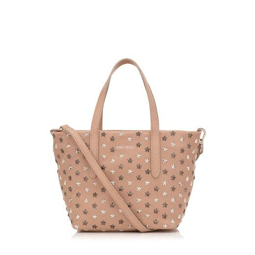 6e0286c11df Jimmy Choo Minisara Ballet Pink Leather With Multi Metal Mix Mini Stars  Mini Tote Bag In