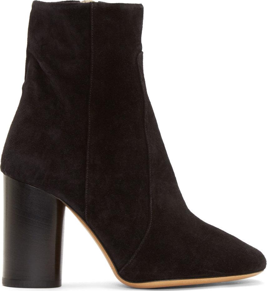 Isabel Marant Garett Suede Block-Heel Boot, Black