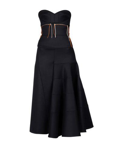 Victoria Beckham Midi Dress In Dark Blue