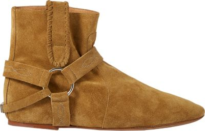 Isabel Marant Etoile 30Mm Ralf Suede Wedge Ankle Boots, Khaki In Green