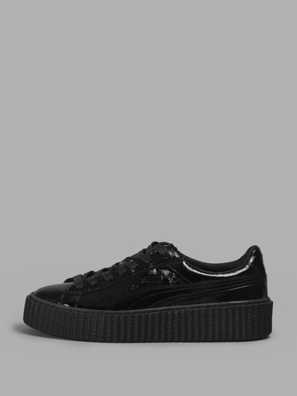 wholesale dealer 5aa69 147a3 Fenty Puma X Rihanna Women's Creeper Patent Leather Platform Sneakers in  Black