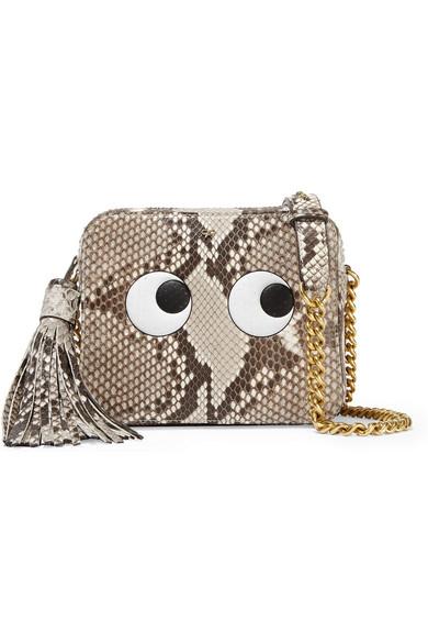 Anya Hindmarch Eyes Right Python Leather Cross-body Bag