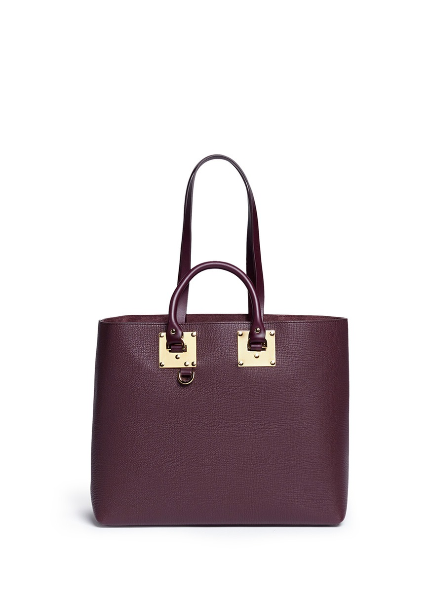 Sophie Hulme 'Cromwell East West' Calfskin Leather Tote Bag