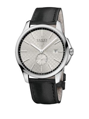 Gucci Mens G-Timeless Watch With Diamante Dial In Black