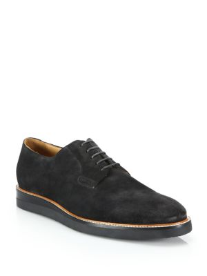 Vince Dylan Leather Derby Shoes In Graphite