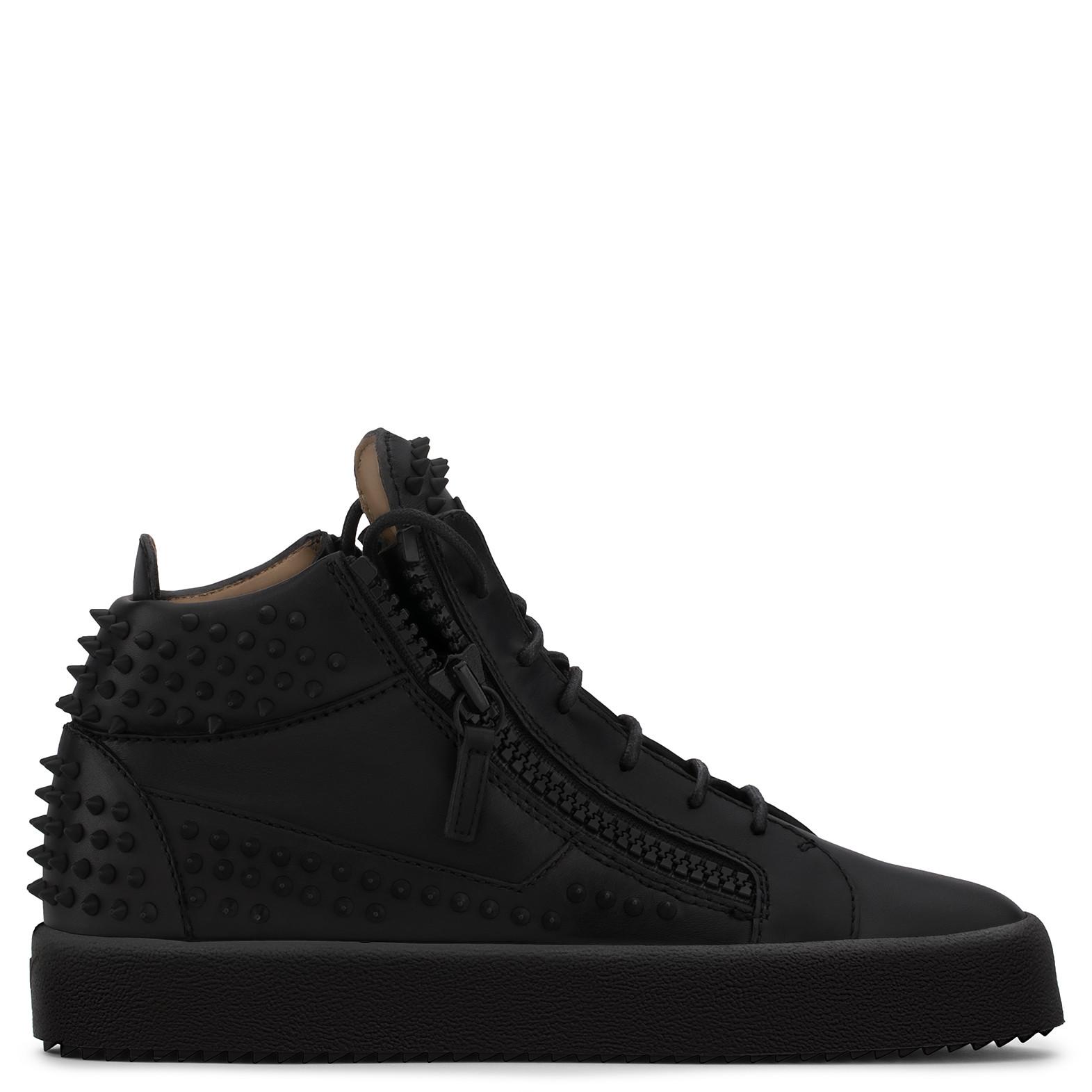 Giuseppe Zanotti Kriss Stud Hi-Top Sneakers In Black