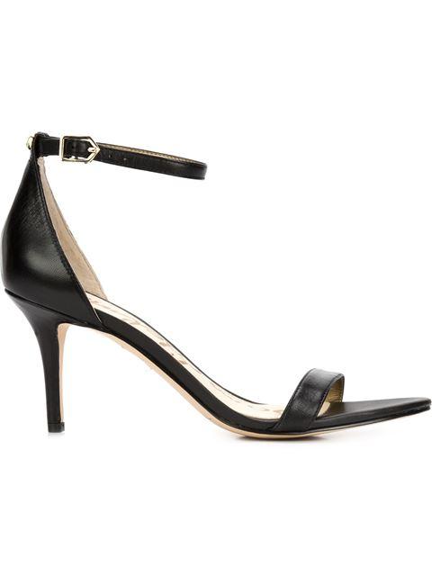 a40614c6bb2c Sam Edelman  Patti  Faux Patent Leather Sandals In Black