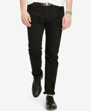 Polo Ralph Lauren Men's Big And Tall Hampton Relaxed Straight Jean In Black