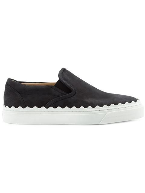 ChloÉ Ivy Suede Slip-on Sneakers In Black