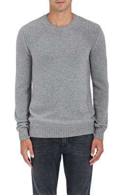 Belstaff Lanson Virgin Wool-Cashmere Crewneck Sweater In Grey,Dark Grey