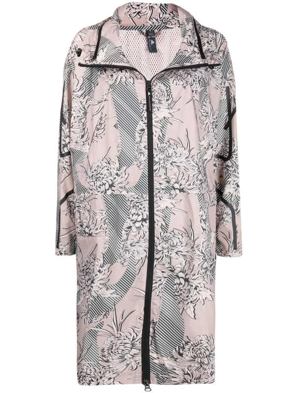 Adidas By Stella Mccartney Long Water Repellent Ripstop Parka In Neutrals