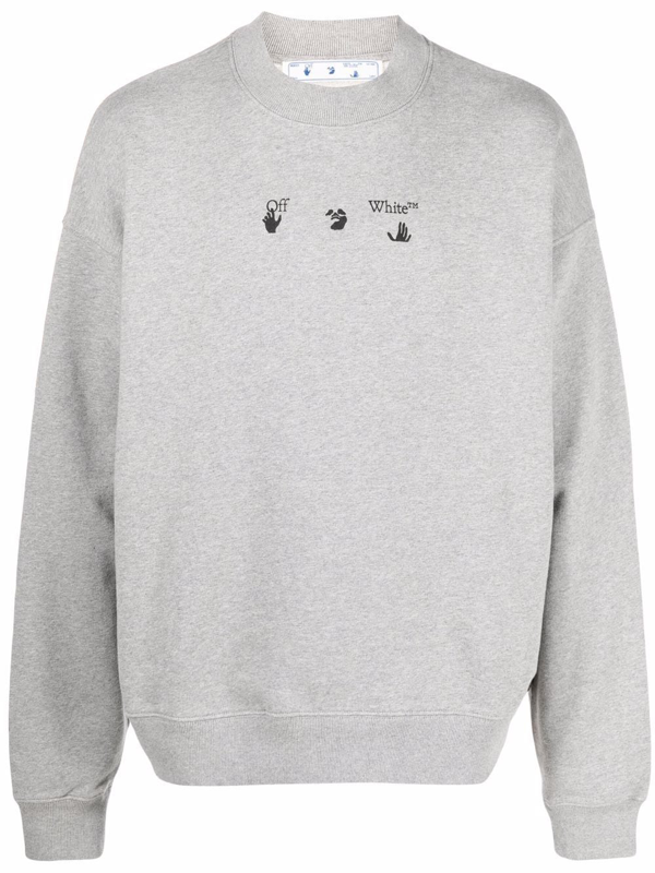 Off-white Arrows Logo Grey Print Sweatshirt