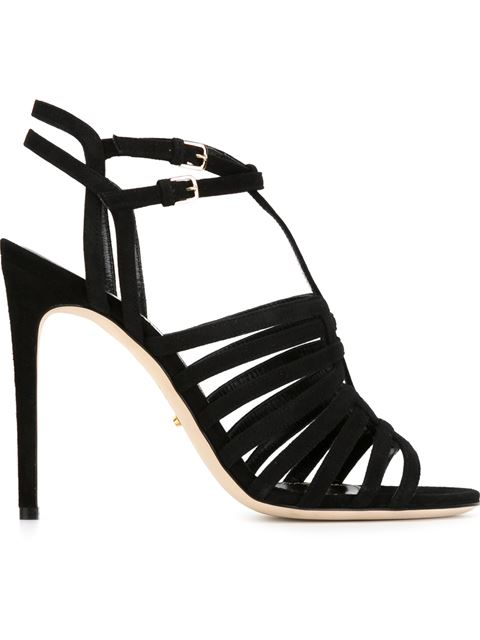 Sergio Rossi Strappy Stiletto Sandals In Black