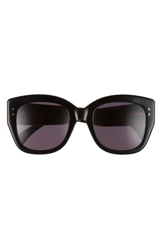 Alaïa 53mm Round Sunglasses In Black/ Grey