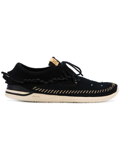 Visvim Black Maliseet Shaman Folk Sneakers