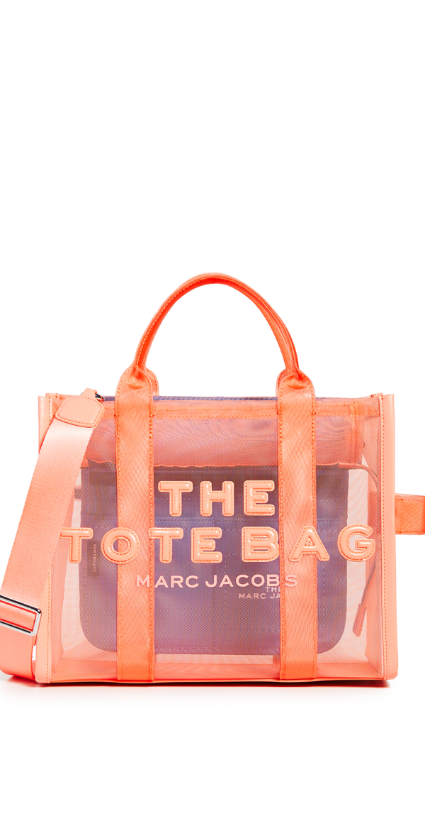 The Mesh Small Traveler Tote Bag In Fusion Coral