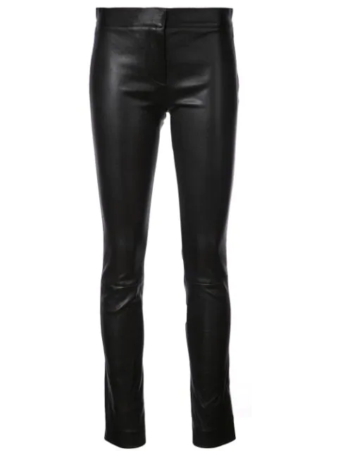 Derek Lam Leather Skinny Leggings In Black