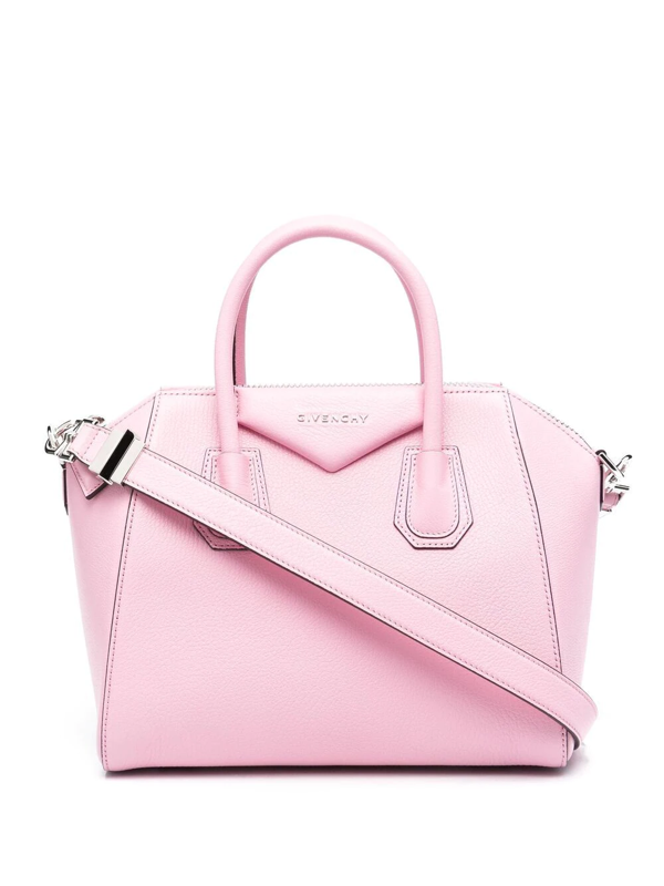Givenchy Pink Small Antigona Bag In Grained Leather