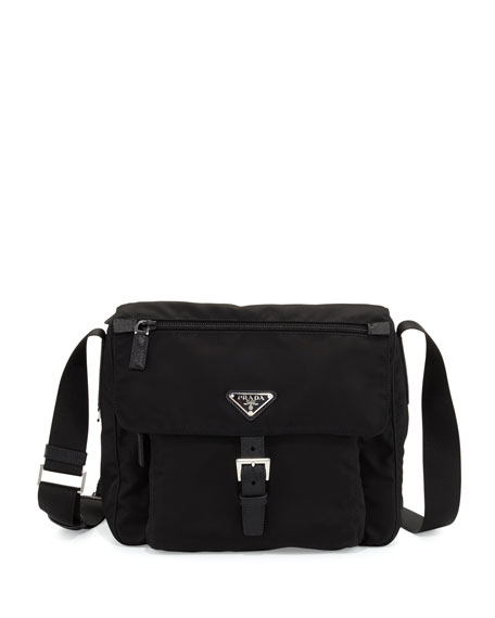 Prada Small Nylon Crossbody Bag, Black (Nero) In 002 Nero B