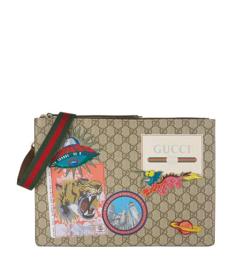 89b44eb9614 Gucci Courrier AppliquÉ Detail Messenger Bag In Harrods