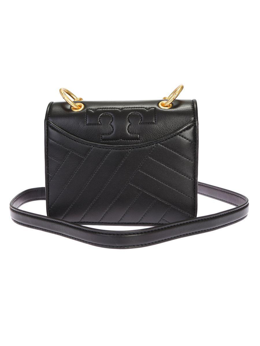 Tory Burch Leather Alexa Mini Bag In Black