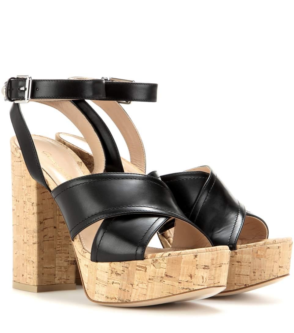 Gianvito Rossi Mytheresa.com Exclusive Suzie Leather Platform Sandals