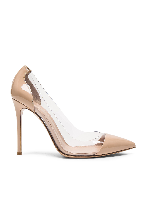 Gianvito Rossi Exclusive To Mytheresa.Com - Plexi 85 Leather Pumps In Gold