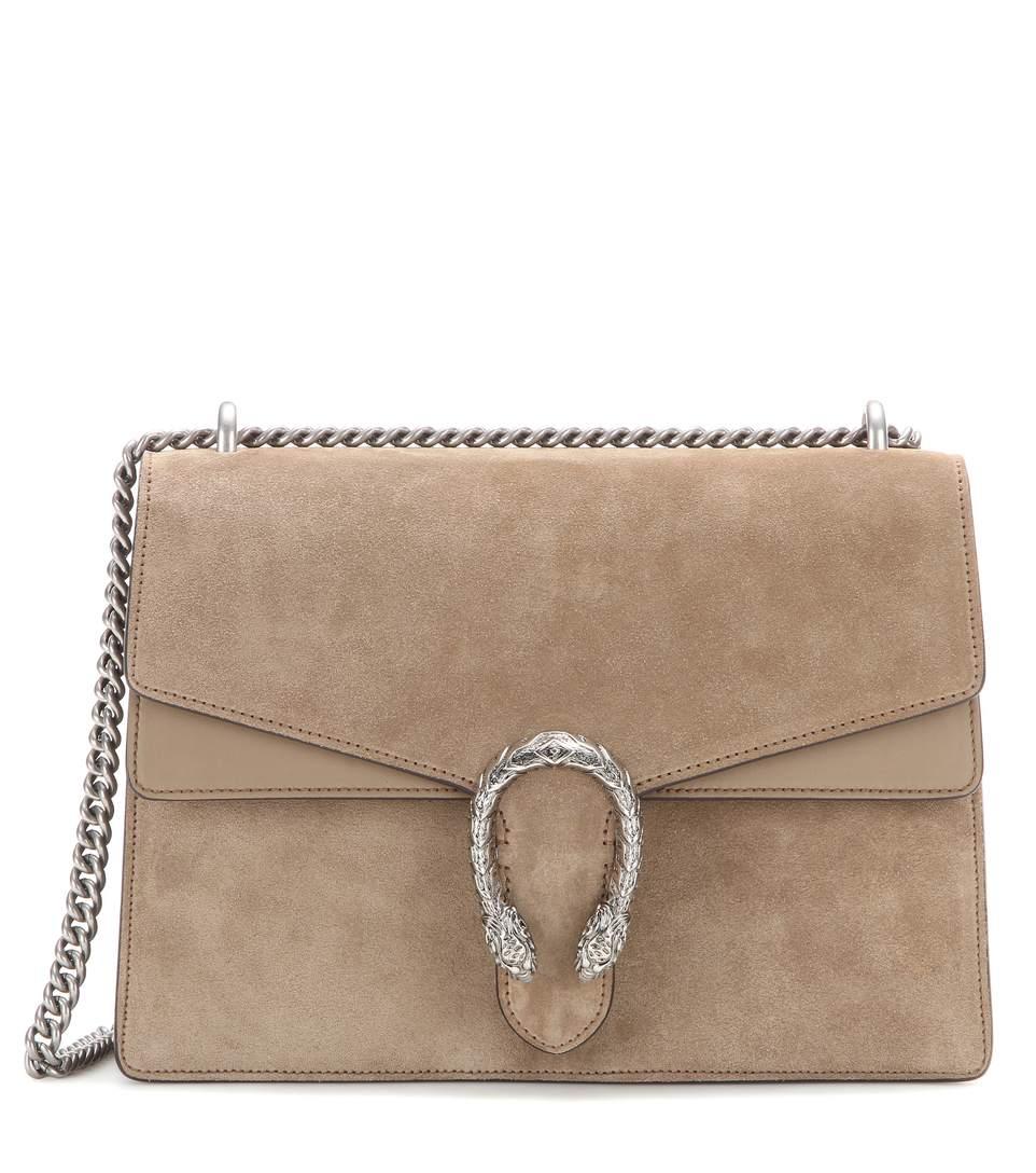 fb27f192b Gucci Dionysus Medium Suede Shoulder Bag In Brown | ModeSens