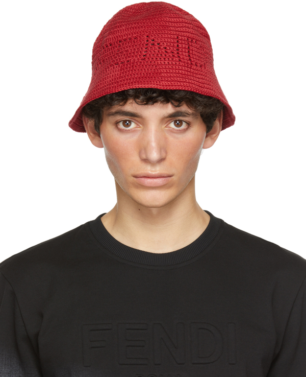 Fendi Red Cotton Bucket Hat In F0qc9red
