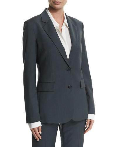 e665f86adb17 Theory Aaren Continuous Wool-Blend Jacket In Gray | ModeSens