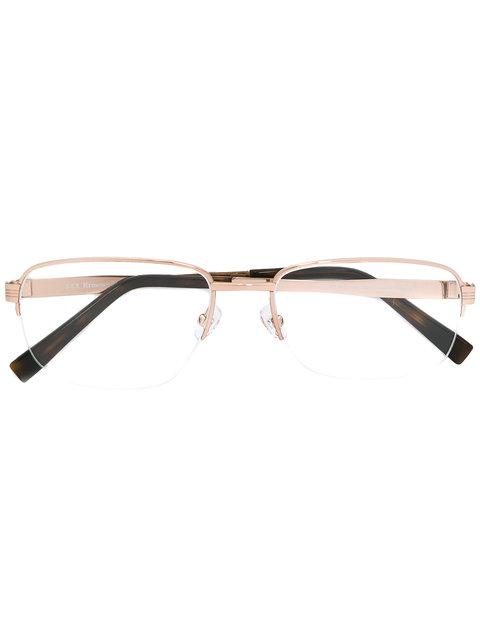 Ermenegildo Zegna Square Frame Glasses