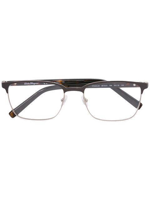 Salvatore Ferragamo Round Frame Glasses