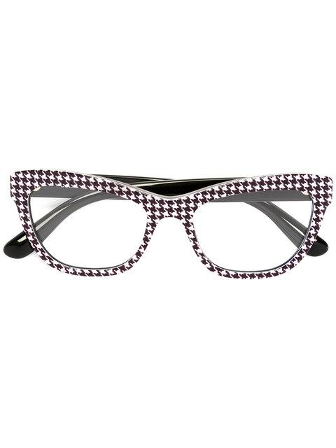 Dolce & Gabbana Cat Eye Printed Glasses