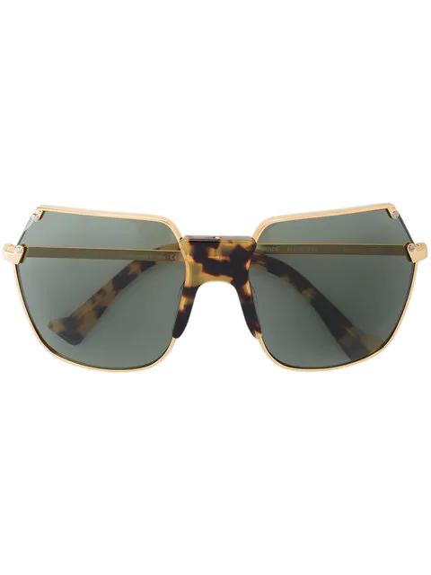 Grey Ant Angular Aviator Sunglasses In Grey