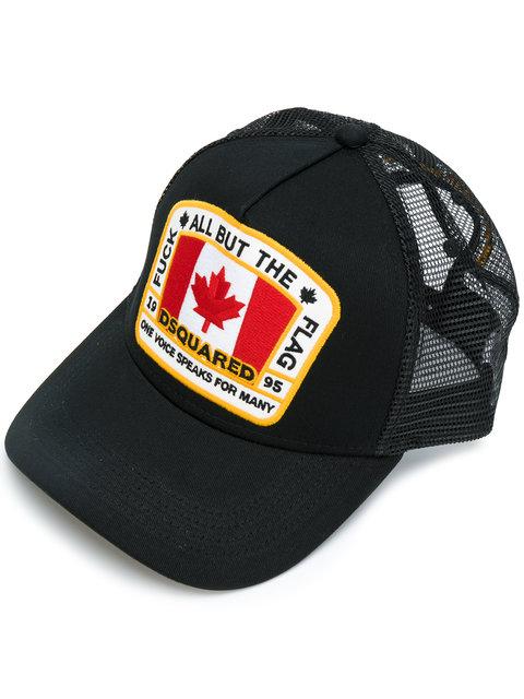 da90c9b4a1a305 Dsquared2 Canadian Flag Baseball Cap In Black | ModeSens