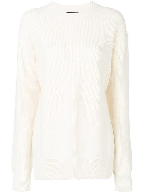 Proenza Schouler Wool And Cashmere Sweater In 00101 Off White