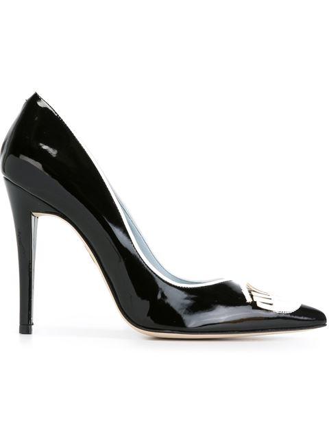 Chiara Ferragni Bump Point Toe Pumps In Black