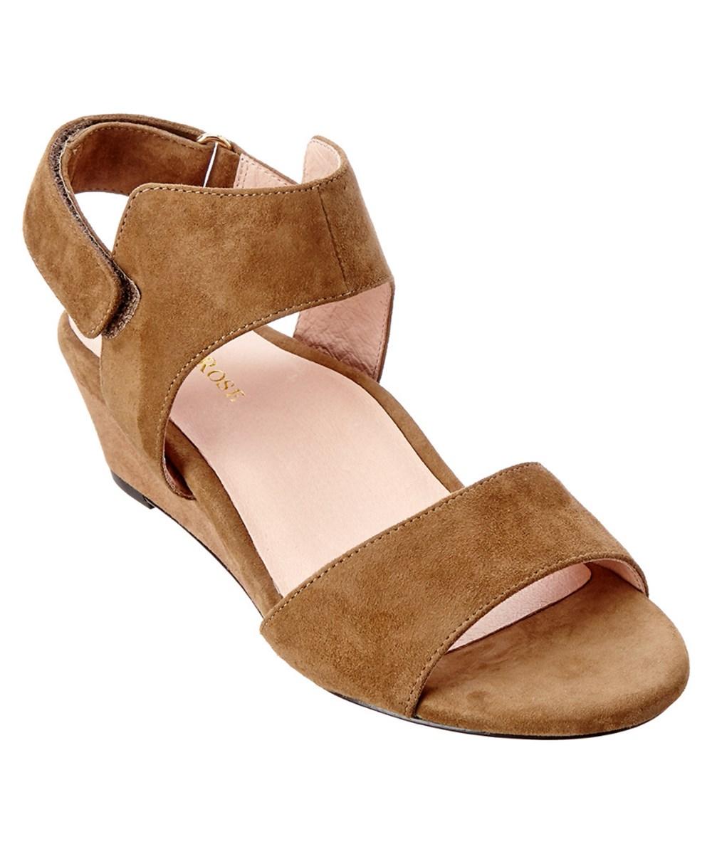 7c197f1fdf5 Taryn Rose Shidora Suede Wedge Sandal In Nude