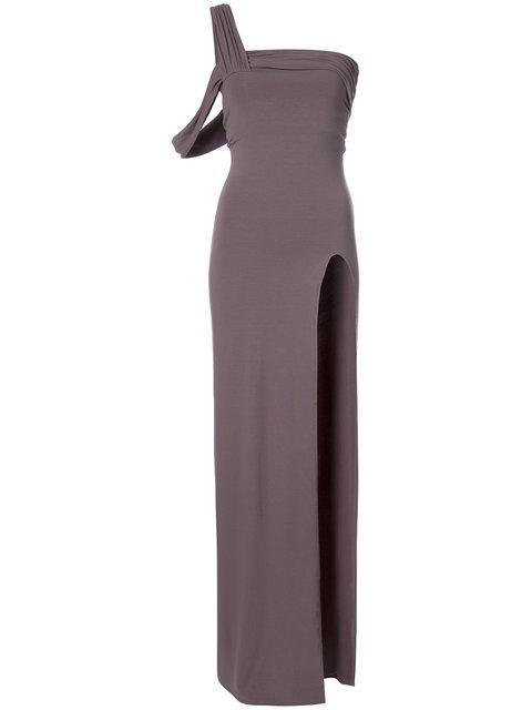 43e402cc9e6 Baja East One Shoulder Maxi Dress In Gray | ModeSens