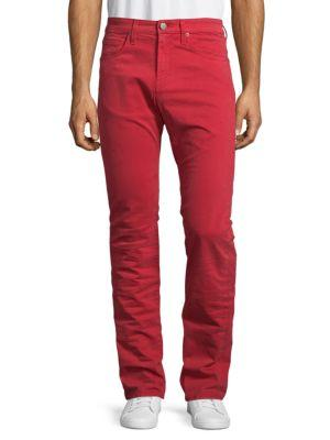 J Brand Kane Straight Fit Jeans In Cape Red