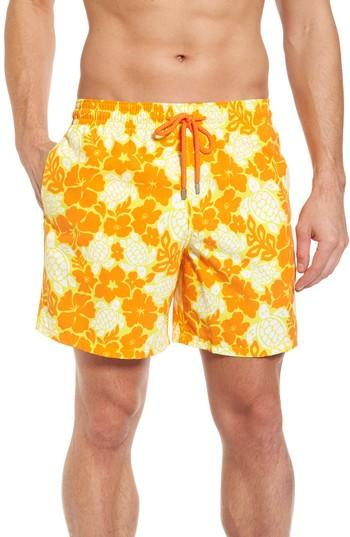 5b3cdf926b74d Vilebrequin Hawaiian Turtles Moorea Swim Shorts In Yellow | ModeSens