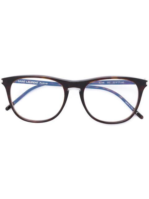 Saint Laurent Eyewear Round Frame Glasses - Brown