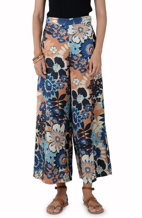 Molly Bracken Floral Wide Leg Pants In Riviera Camel
