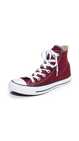 Chuck Taylor All Star High Top Sneakers in Burgundy