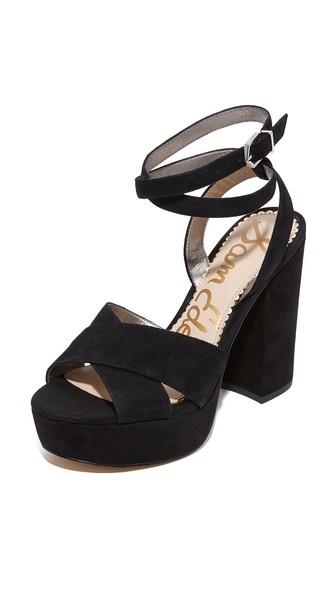 0f838751650132 Sam Edelman Mara Platform High Heel Sandals In Black