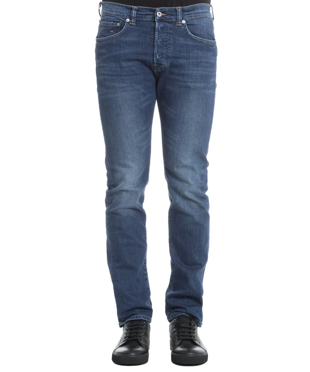 Edwin Men's  Blue Cotton Jeans