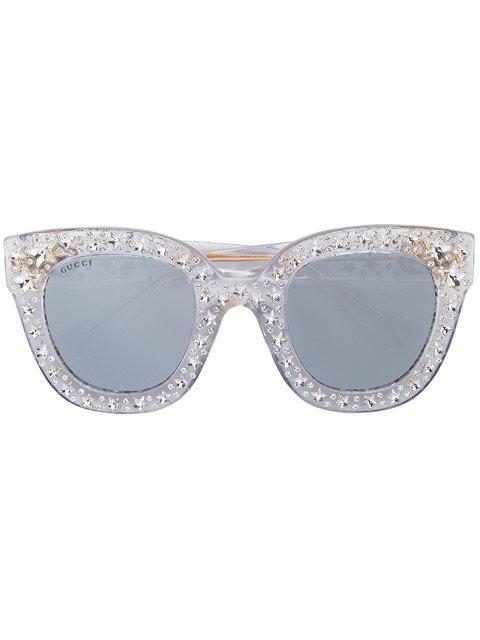 05052544b21 Gucci Eyewear Cat Eye Star Sunglasses - Metallic. Farfetch