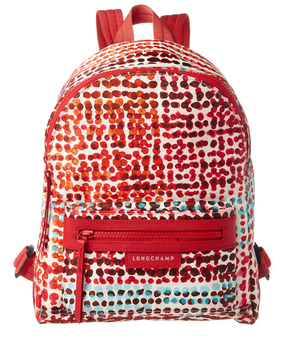7d5ff86f613 Longchamp Le Pliage Neo Fantaisie Polka Small Nylon Backpack In Red ...
