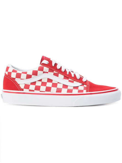 a4c0c40b58f255 Vans Checkered Lace-Up Sneakers