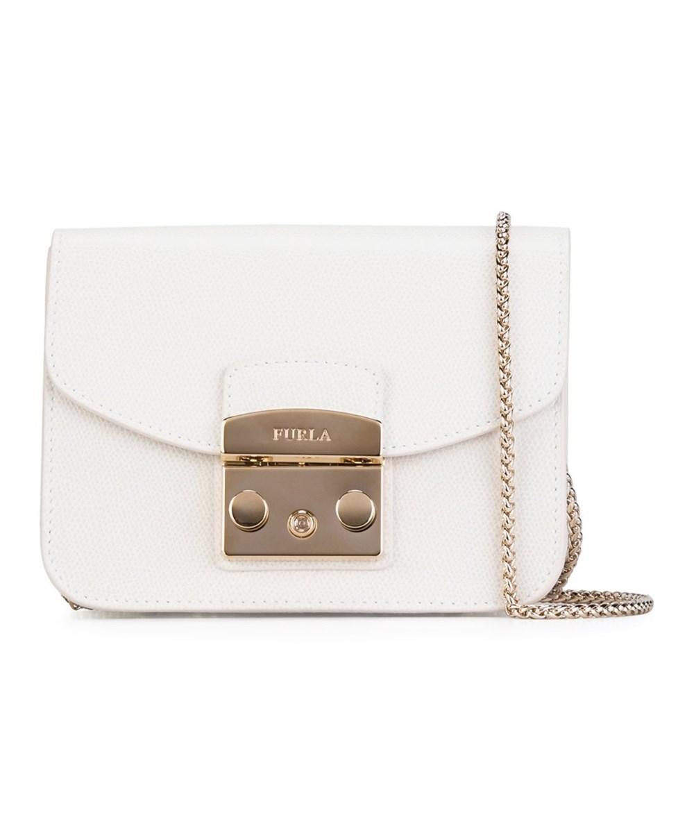 Furla Women S White Leather Shoulder Bag